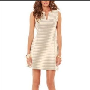Lilly Pulitzer Brielle metallicgold stripped dress